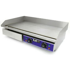 More details for commercial electric griddle countertop kitchen hotplate bbq stainless steel 73cm