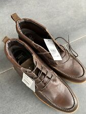M&S Brand New Mens Brown Leather Lace Up Boots UK Size 13