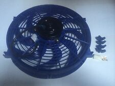 14 INCH 12v LOW PROFILE BLUE  HIGH PERFORMANCE THERMO FAN 12volt