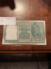 INDIA 5 RUPEES P33 1949 ANTELOPE TIGER UNC RAMA RAU SIGN MONEY BILL INDIAN NOTE