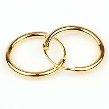14k Gold Filled Small Endless Hoop Earrings for Ears Cartilage Nose or Lips 10mm