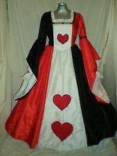 Queen of Hearts Masquerade Dress Gown Alice in Wonderland, Your Size Choice
