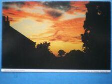 POSTCARD CUMBRIA ARMATHWAITE - KNOCK HALL FARM AT SUNSET