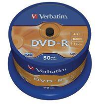 Verbatim 50 Pack Swindle DVD-R AZO 4.7GB 16x Matt Silver