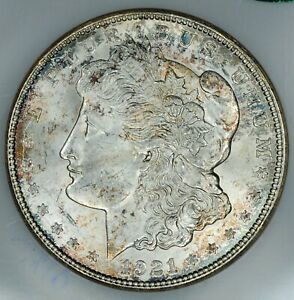 1921-D Fatty NGC 3 & CAC MS64 VAM-1AH R-6 Displaced Field Morgan Silver Dollar