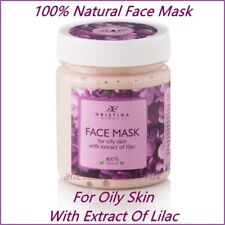 Face Mask with Lilac for Oily Skin 100% Natural 200 ml Paraben Free Hristina