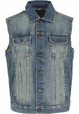 Denim Vest Urban Classics Streetwear Vestito Uomo L lightblue