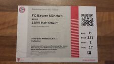 Ticket Bundesliga Saison 2017/18 FC Bayern München vs. TSG 1899 Hoffenheim