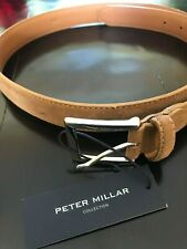 Nwt~Peter Millar Men'S Collection Suede Belt~Size 34~Crafted In Italy~ Msrp $195