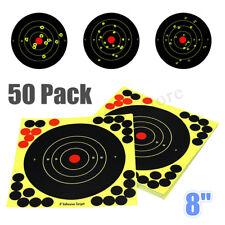 50 Pack 8'' Bullseye Splatterburst Stick Splatter Adhesive Shooting Target Paper