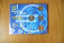 CONFEZIONE REPUBBLICA SAN MARINO SERIE 4 MONETE EURO 2002 SUBALPINA