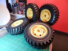 "Toy Heavy Equipment rubber Tires Plastic Rims 7/16 Hex Drive & 5/16 Axle 7""x 2"""