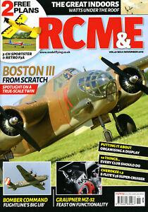 RCM&E, Nov 2018; Sportster & F3A (Free Plans), Scratch Boston, MZ-32, E-Flite 3S