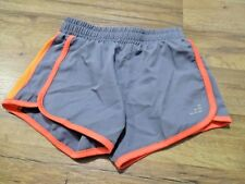BCG Girls Gray & neon orange Shorts Athletic Running Size Large Small (7)