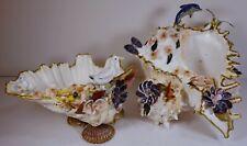 Vintage Real Sea Shell Figurine Trinket Bowls Crafts Beach House Decor Nautical