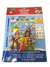 Nintendo Super Mario Bros Wall Decoration Party Scene Setter Supply w/ 12 props