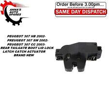 PEUGEOT 307 HB 307 SW 307 CC REAR TAILGATE BOOT LID LOCK LATCH CATCH ACTUATOR