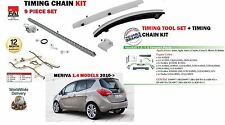 FOR VAUXHALL OPEL MERIVA B 1.4 A14NET A14NEL 2010-> TIMING CAM CHAIN KIT + TOOLS