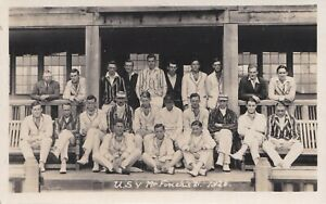 Uppingham School v J Finch's XI 1926. RP cricket postcard. RH Spooner Lancashire