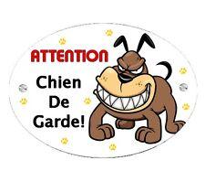 Plaque Attention au chien Cartoon personnalisée avec votre texte