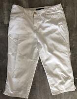 RALPH LAUREN SPORT WHITE Cotton CAPRI SIZE 10 💫💫