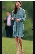NEW Libelula Rebecca Shirt Dress Rose And Cobalt Blue Print Size 42 ASO Rare!