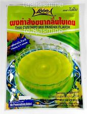 Thai Custard Mix Pandan Flavor  4.2 Oz. Ready in 1 Minute No Preservatives