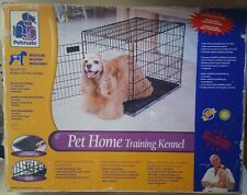 Playmate Pet Home Training Wire Crate, Black - 24x18x21