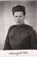 1960 Handsome young man guy soldier recruit army Soviet Russian photo gay int