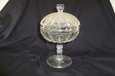 Vintage Clear Glass Candy Jar Beautiful