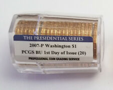 2007- First day of issue PCGS George Washington dollar sealed 20 count roll.