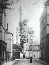 "VINTAGE PHOTOGRAPHY - STATUE OF LIBERTY IN PARIS, 1886-ART PRINT 32""x24"" (S1032)"