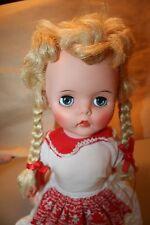 """Vtg 19"""" Eegee Doll Dutch Girl w/ Sleep Eyes Pig Tails & Bows"""