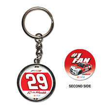 Kevin Harvick 2013 Wincraft #29 Budweiser #1 Fan Spinner Key Ring FREE SHIP!