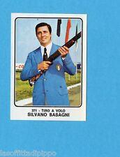 CAMPIONI dello SPORT 1973/74-Figurina n.371- BASAGNI - ITALIA -TIRO A VOLO-Rec