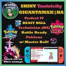 SHINY Gigantamax Toxtricity GMax ✨Master Ball ✨6IV Pokemon Sword Pokemon Shield