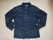 Double Ralph Lauren RRL Indigo Cotton Corduroy Chore Jacket Size M Navy Blue