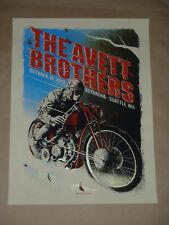 The Avett Brothers Zeb Love concert poster screen print Seattle Key Arena 2013