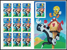Sylvester & Tweety Bird Looney Tunes 3204 Mint Mnh Sheet Pane 10 32¢ Stamps 1998