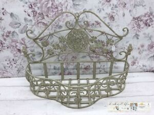 Flower Basket to Hang Shabby Vintage Metal Style