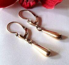 alte Reh Ohrringe 835 Silber vergoldet Ohrschmuck Ohrgehänge / bj 735