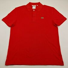 Lacoste Men's Slim Fit Short Sleeve Red Polo Shirt L 21 x 28 NWT