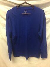 Stafford Mens Blue Long Sleeve Sleepwear Sz L