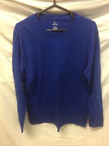 Big Mens Stafford 100/% Woven Cotton Long Sleeve Nightshirt Gray 2XL or  3XL NWT