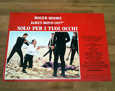 007 SOLO PER I TUOI OCCHI fotobusta poster Moore Bond For your Eyes Only Gun B11