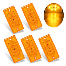 5 PCS Yellow Cover Amber 6 LED Cab Marker Roof Top Clearance Light for Volvo