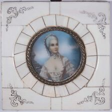 Beautiful Antique Miniature Portrait Painting of Victorian Women, Signed, Vober!
