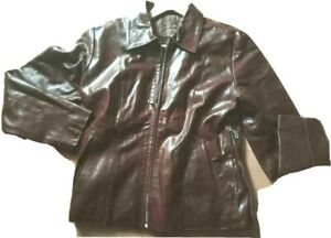 made in Italy, Leather Jacket, size medium