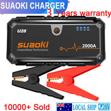 Suaoki U28 2000A Peak Jump Starter Pack with USB Power Bank Smart Battery Clamps