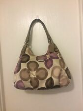 COACH Madison Clover Print Sateen Maggie 17055 Shoulder Bag